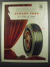1953 Dunlop Fort Tires Ad - Dunlop Fort in a class by itself