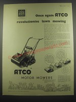 1953 Atco Motor Mowers Ad - Once again Atco revolutionise lawn mowing