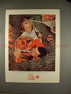 1965 Coke Coca-Cola Ad - Things Go Better - Fall Leaves