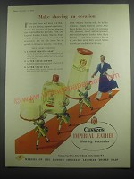 1953 Cussons Imperial Leather Advertisement - Shaving Soap, After Shave Lotion