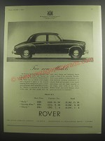 1953 Rover Cars Ad - Two new models