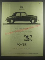1953 Rover Cars Ad - Rover worth goes deep