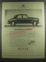 1953 Rover Cars Ad - Continuity of Effort