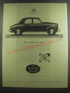1953 Rover Seventy Five Car Ad - worth goes deep