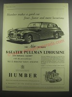 1953 Humber 8-Seater Pullman Limousine Ad - Humber makes a good car finer