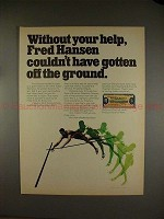 1971 Bank of America Ad w/ Fred Hansen - Off the Ground