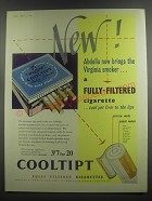 1953 Abdulla Cooltipt Cigarettes Ad - New! Abdulla now brings the Virginia