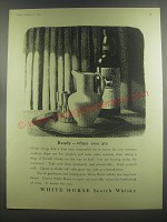 1953 White Horse Scotch Ad - Ready - when you are