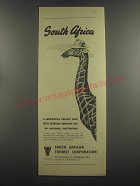 1953 South African Tourist Corporation Ad - South Africa A Superlative Holiday