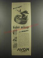 1953 Avon H-M Tire Ad - It's no myth! Higher mileage is a reality