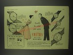 1953 Smiths Watches Advertisement - A.352, A.211, B.207, B.212 and A.304