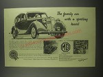 1953 MG 1 1/4 Litre Saloon Car Ad - The family car with a sporting heart