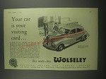 1953 Wolseley Six-Eighty Car Ad - Your car is your visiting card