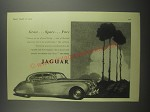 1953 Jaguar Car Ad - Grace Space Pace