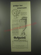 1953 Hotpoint Washing Machine Ad - Judge for yourself