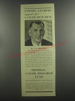 1953 Imperial Cancer Research Fund Ad - Mr. S. G. Holland - Empire leaders