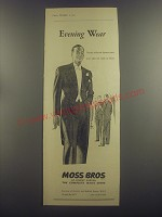 1953 Moss Bros Dinner Suits and Tails Advertisement - Evening Wear