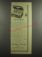 1953 Army & Navy Grundig Reporter Tape Recorder Ad - Get it taped