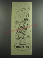 1953 Booth's Dry Gin Advertisement - In all things.. There is only one best