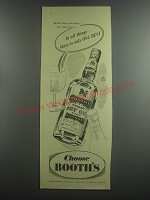 1953 Booth's Dry Gin Ad - In all things.. There is only one best