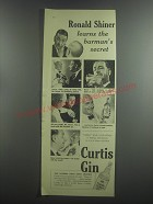 1953 Curtis Gin Ad - Ronald Shiner learns the barman's secret