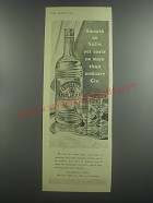 1953 Burnett's White Satin Gin Ad - Smooth as Satin yet costs no more