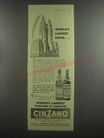1953 Cinzano Vermouth Ad - World's largest hotel