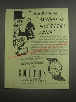 1953 Smiths A211 Watch Ad - Now I can say as right as my Smiths Watch