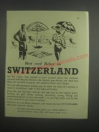 1953 Swiss National Tourist Office Ad - Rest and Relax in Switzerland