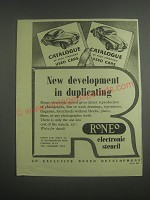 1953 Roneo Electronic Stencil Ad - New development in duplicating