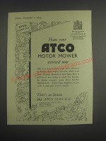 1953 Atco Motor Mower Service Ad - Have your Atco Motor Mower serviced now