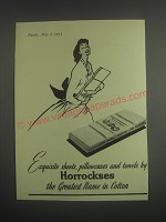 1953 Horrockses Sheets, Pillowcases and towels Ad