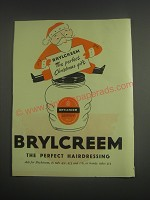 1953 Brylcreem Hairdressing Ad - Brylcreem the perfect Christmas gift