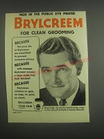 1953 Brylcreem Hairdressing Ad - Men in the public eye prefer Brylcreem