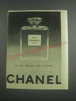 1953 Chanel No.5 Perfume Ad - The most treasured name in perfume