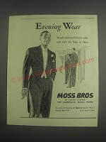 1953 Moss Bros Dinner Suits and Tails Ad - Evening Wear