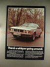 1977 BMW 644 Coupe Car Ad - There's A Whisper Around!!
