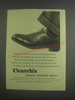 1953 Church's Provost Shoe Ad - Church's Famous English Shoes