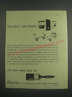 1953 Harris Paint Brush Ad - Whether you make