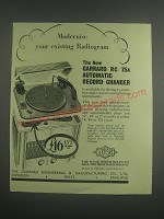 1953 Garrard RC 75A Automatic Record Changer Ad - Modernise your existing