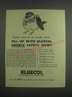 1953 Smiths Bluecol Anti-Freeze Ad - North wind or no north wind - fill up with
