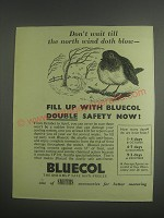 1953 Smiths Bluecol Anti-Freeze Ad - Don't wait till the north wind doth blow