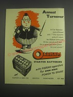 1953 Oldham Battery Ad - Annual turnover