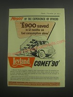 1953 Leyland Comet 90 Truck Ad - Profit by the experience of others