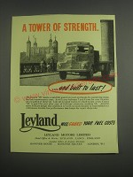 1953 Leyland Comet 90 Truck Ad - A tower of strength