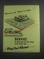1953 Girling Brakes Ad - Wherever you choose to motor