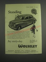 1953 Wolseley Six Eighty Car Ad - Standing