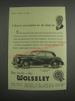 1953 Wolseley Six Eighty Car Ad - A doctor's prescription for the ideal car