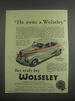 1953 Wolseley Six Eighty Car Ad - He owns a Wolseley