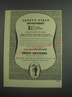 1953 Abbey National Building Society Ad - Safety-First investment